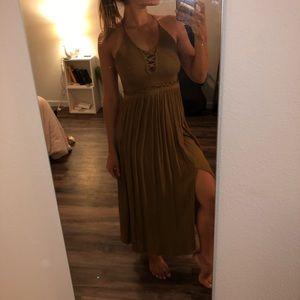 Tan Boho Dress